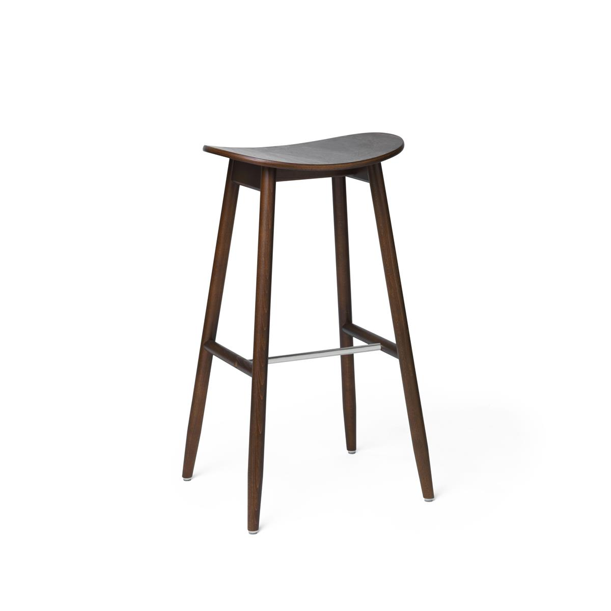 Icha Bar Stool - Walnut Stained