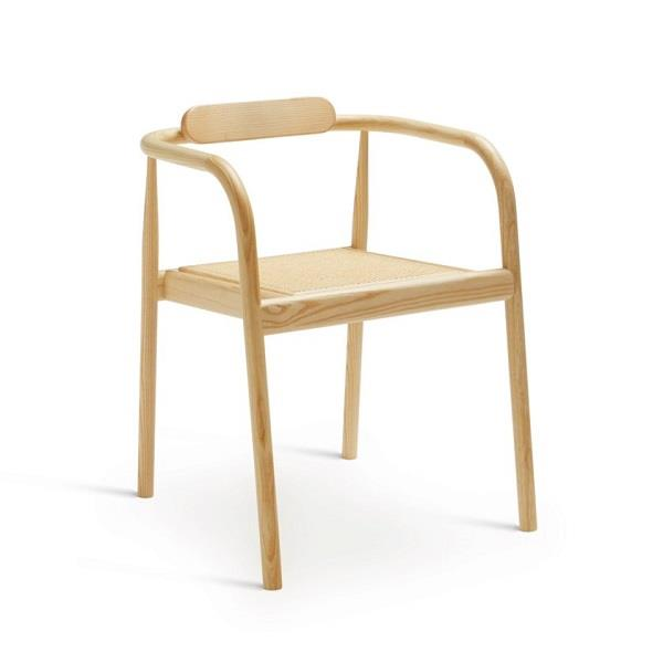 AHM Chair. Natural Ash. Cane Rattan Seat.