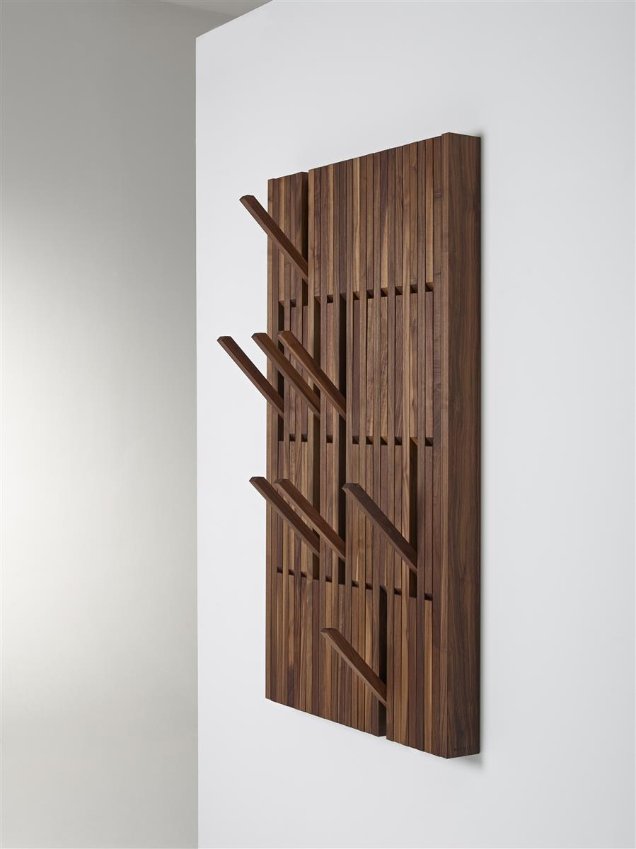 Piano Coat Rack Large - oljet valnøtt