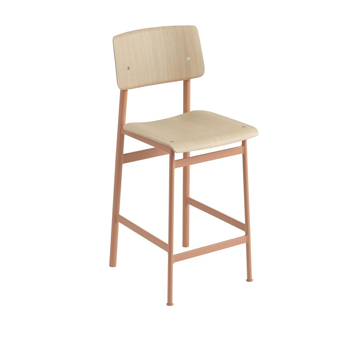 Loft Bar Stool H65 - Dusty Rose & Oak