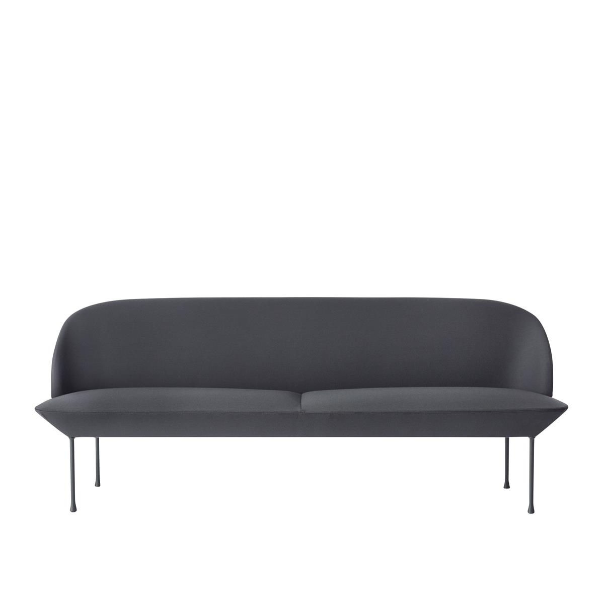 Oslo Sofa 3 Seater - Steelcut 180 & Dark Grey Legs