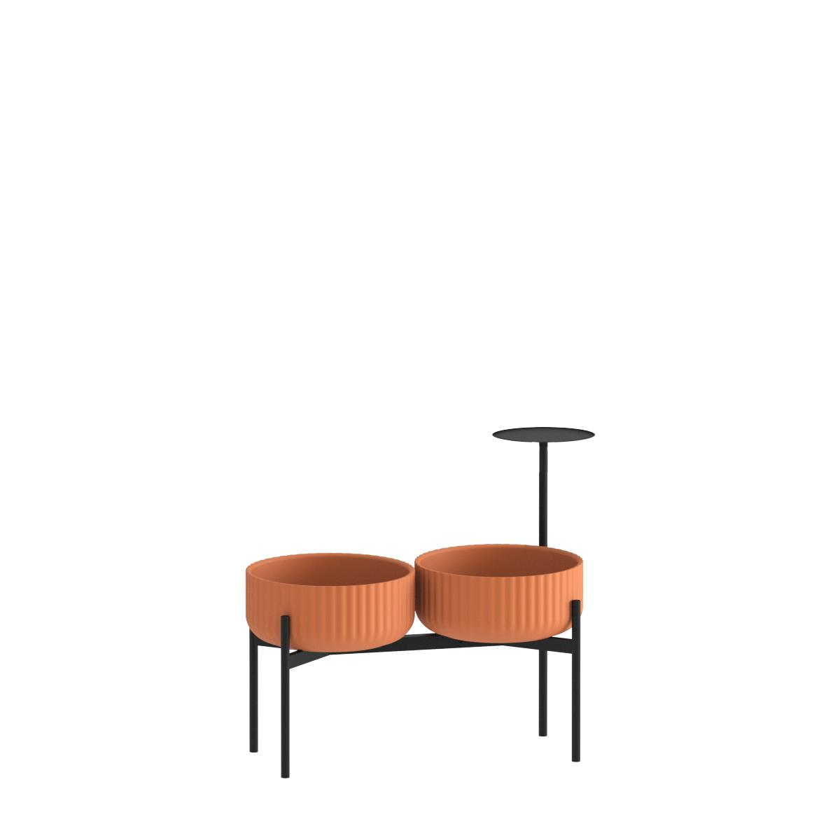 Klorofyll Double Medium Base & Low Planters with Round Table