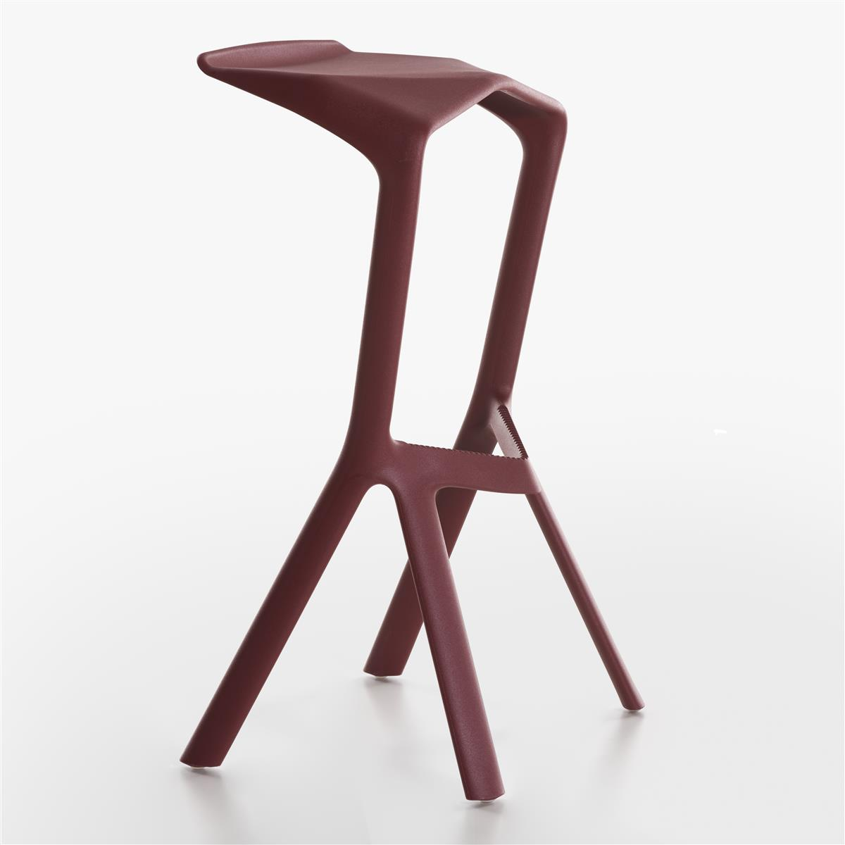 Miura Bar Stool H78 - Wine Red