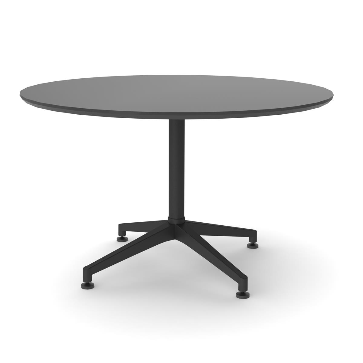 X1 Seamless Table Ø120 cm - sort linoleum & sort understell