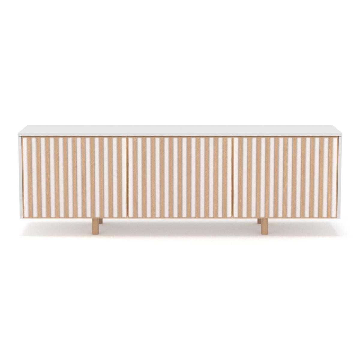 dB Silent Sideboard - White & Oak legs