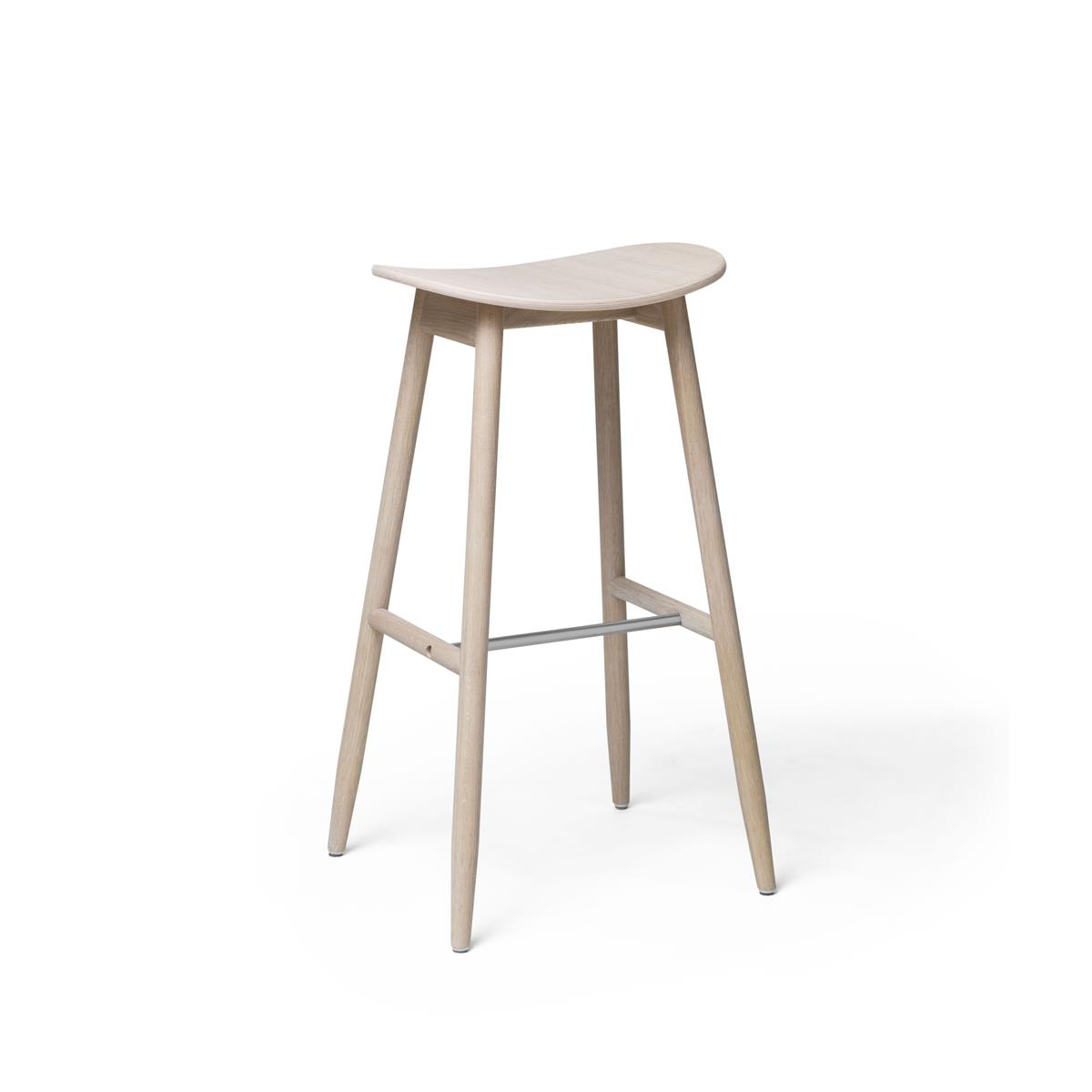 Icha Bar Stool - White Oiled Oak