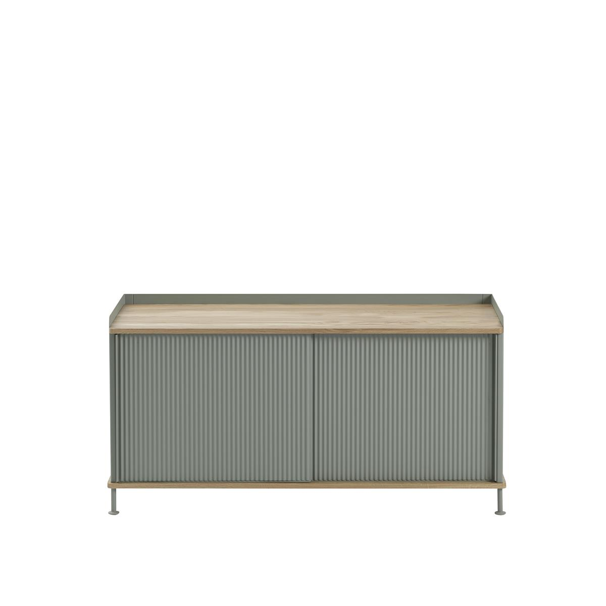 Enfold Sideboard Low - Oak / Dusty Green