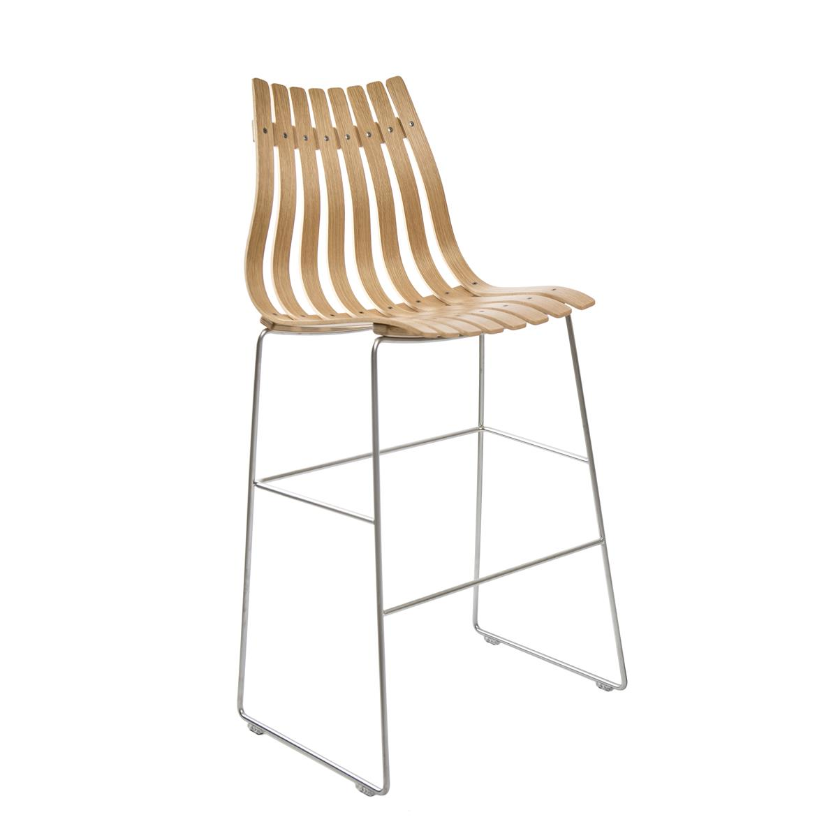 Scandia Bar Stool 75 - eik