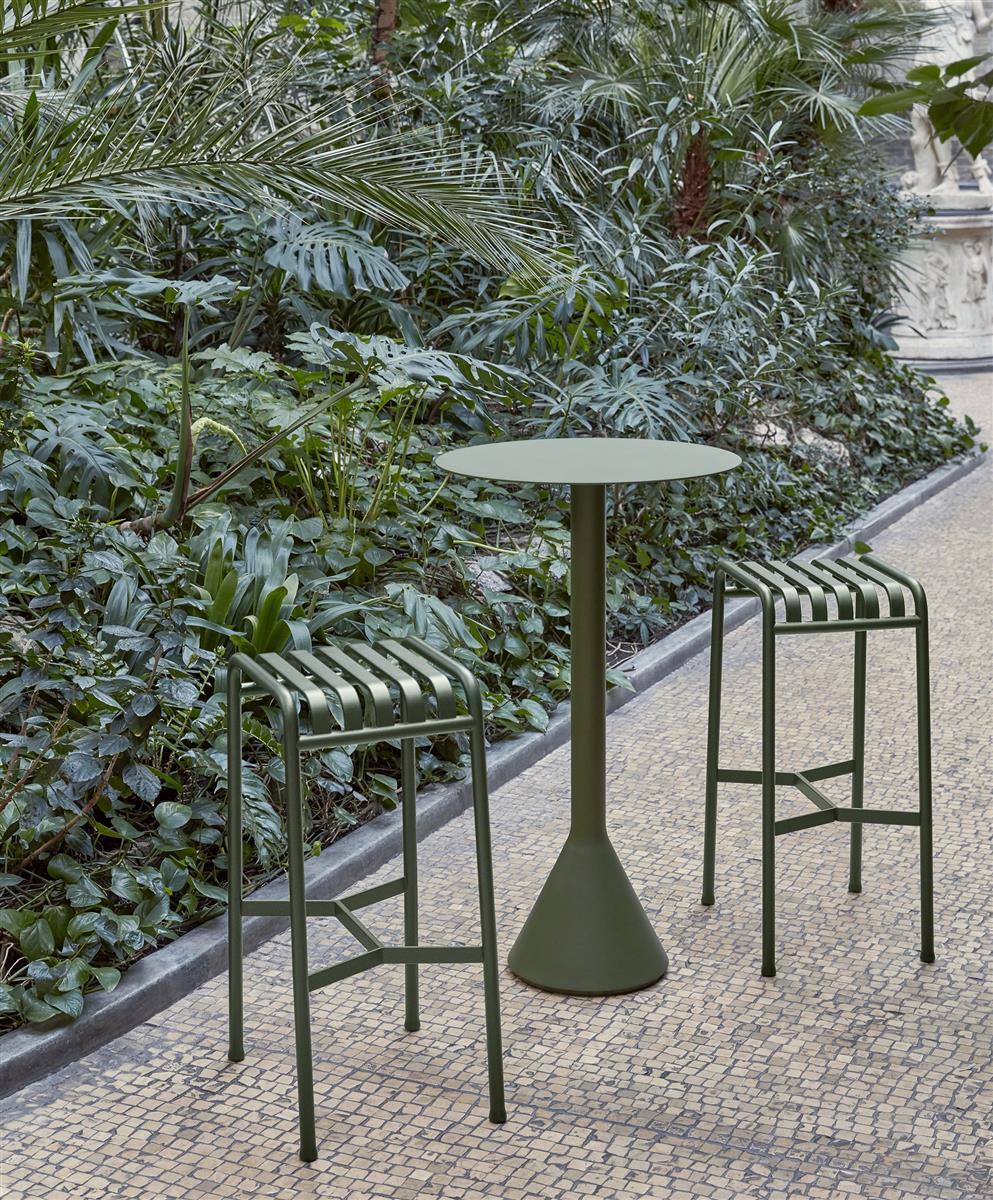 Palissade pakke: 2 barstoler H78 cm med Cone Table H105 cm.