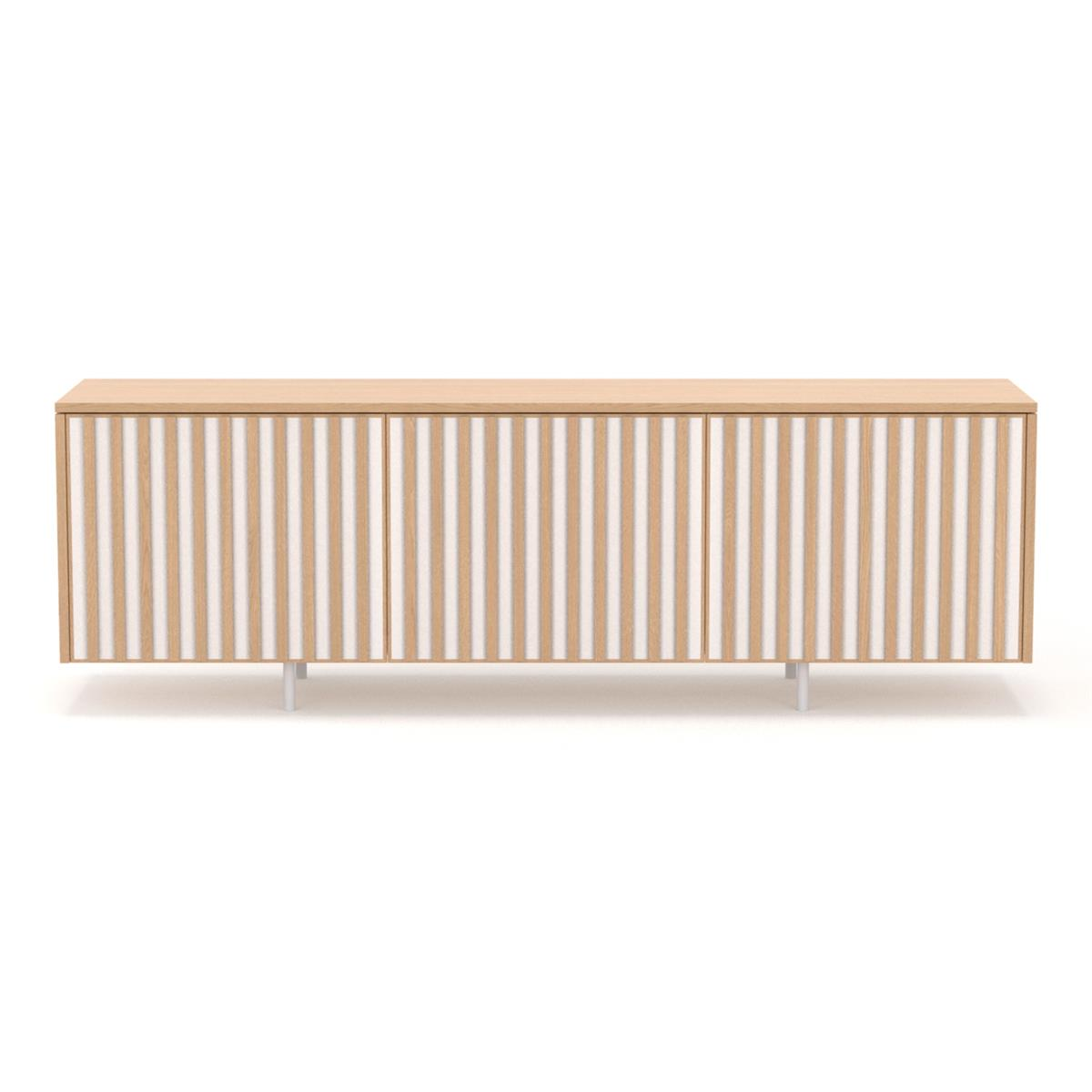 dB Silent Sideboard - White Oiled Oak & White