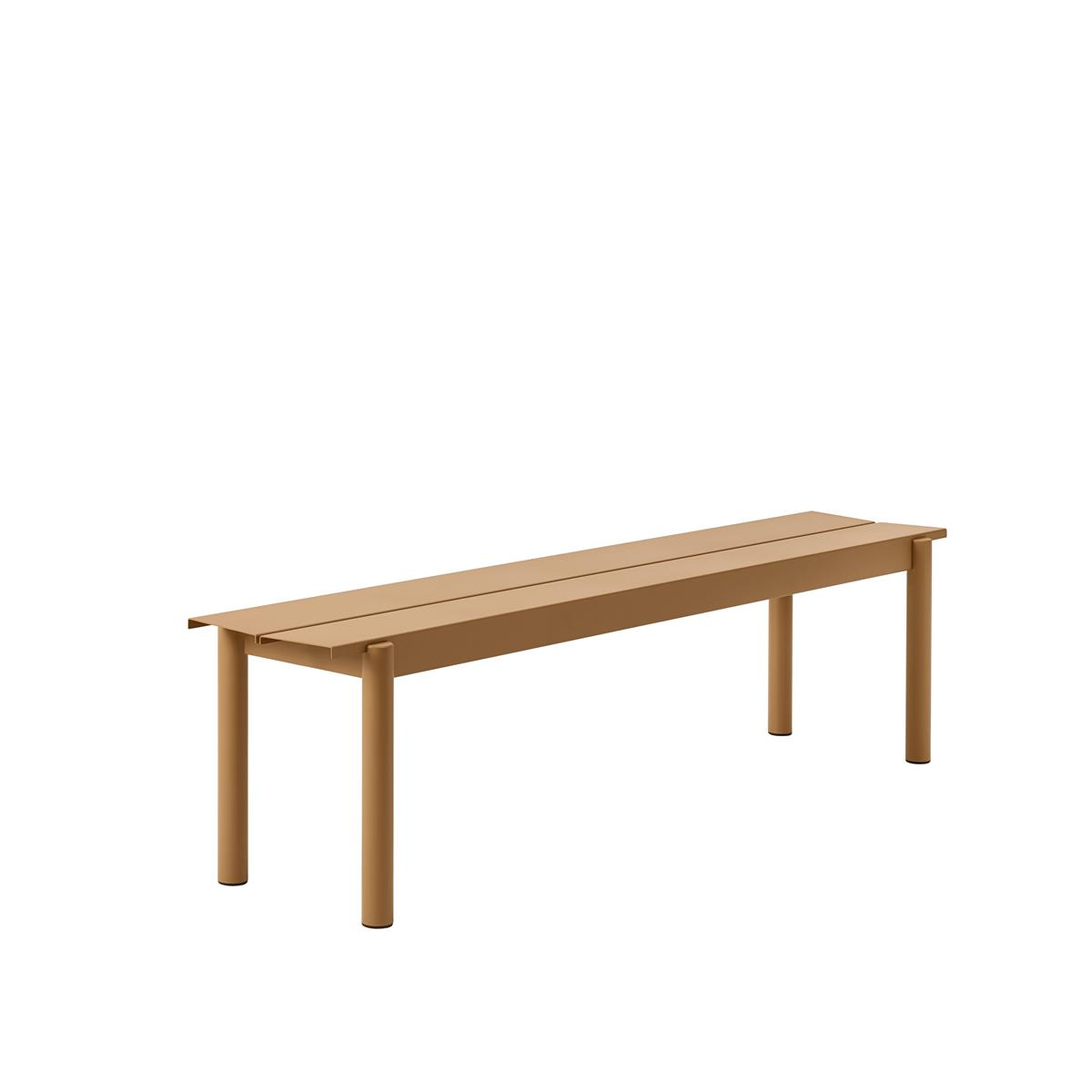 Linear Steel Bench 170 x H45,5 - Burnt Orange