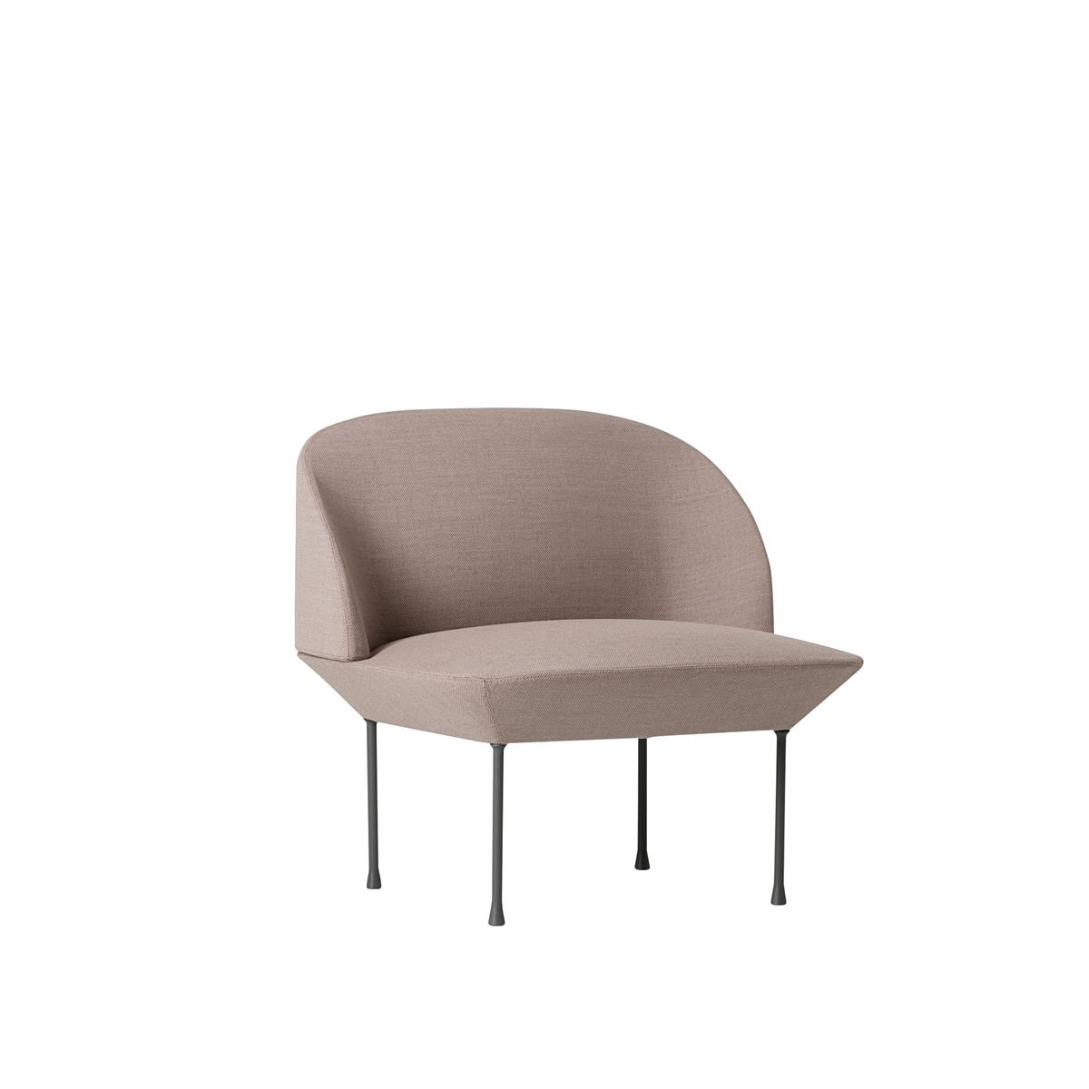 Oslo Lounge Chair - Fiord 551 & Light Grey Legs