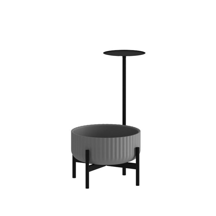 Klorofyll Low Base & Low Concrete Planter with Round Table