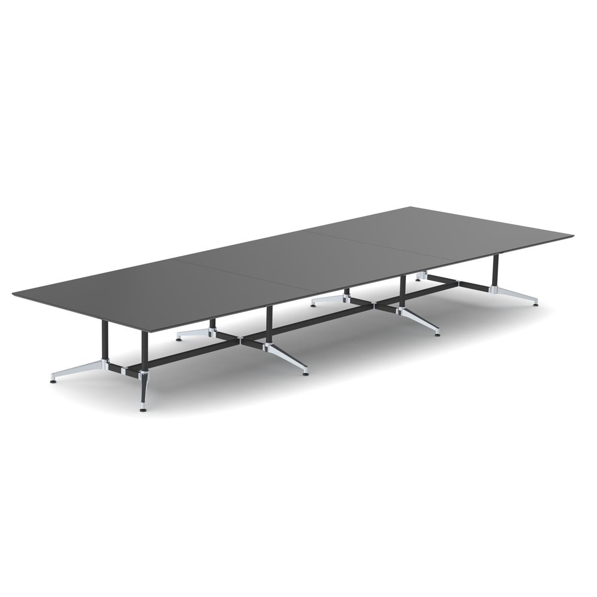 X1 Seamless Table Wedge Shape 680 x 140/180 - sort linoleum & sort / aluminium