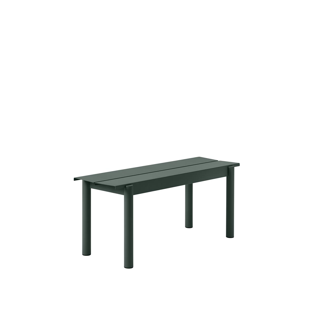 Linear Steel Bench 110 x H45,5 - Dark Green