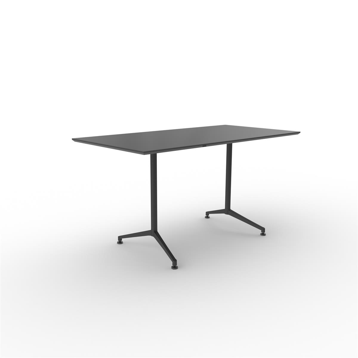 X1 Seamless Table 180x90 cm med sort linoleum & sort ramme