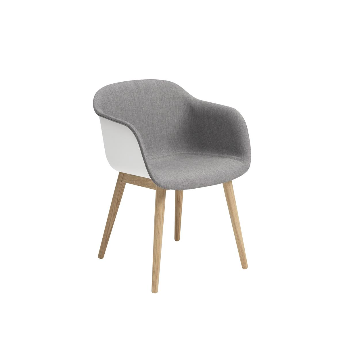 Fiber Armchair Wood base - Kvadrat Remix & ben i eik