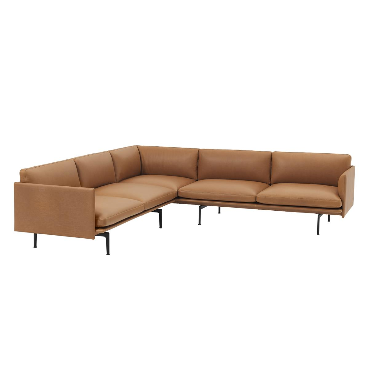Outline Sofa Corner - Silk Cognac