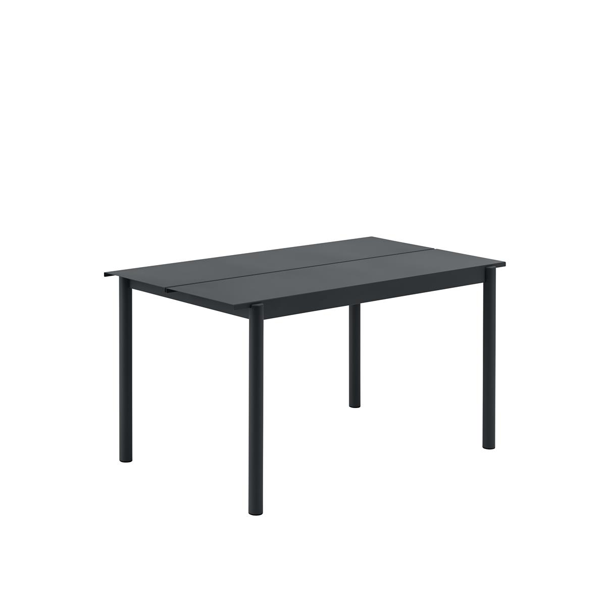 Linear Steel Table 140 x 75 x H73,5 - Black