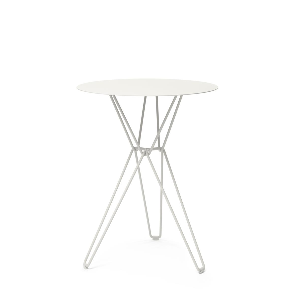 Tio Bar Table Ø75 x H110 cm - White