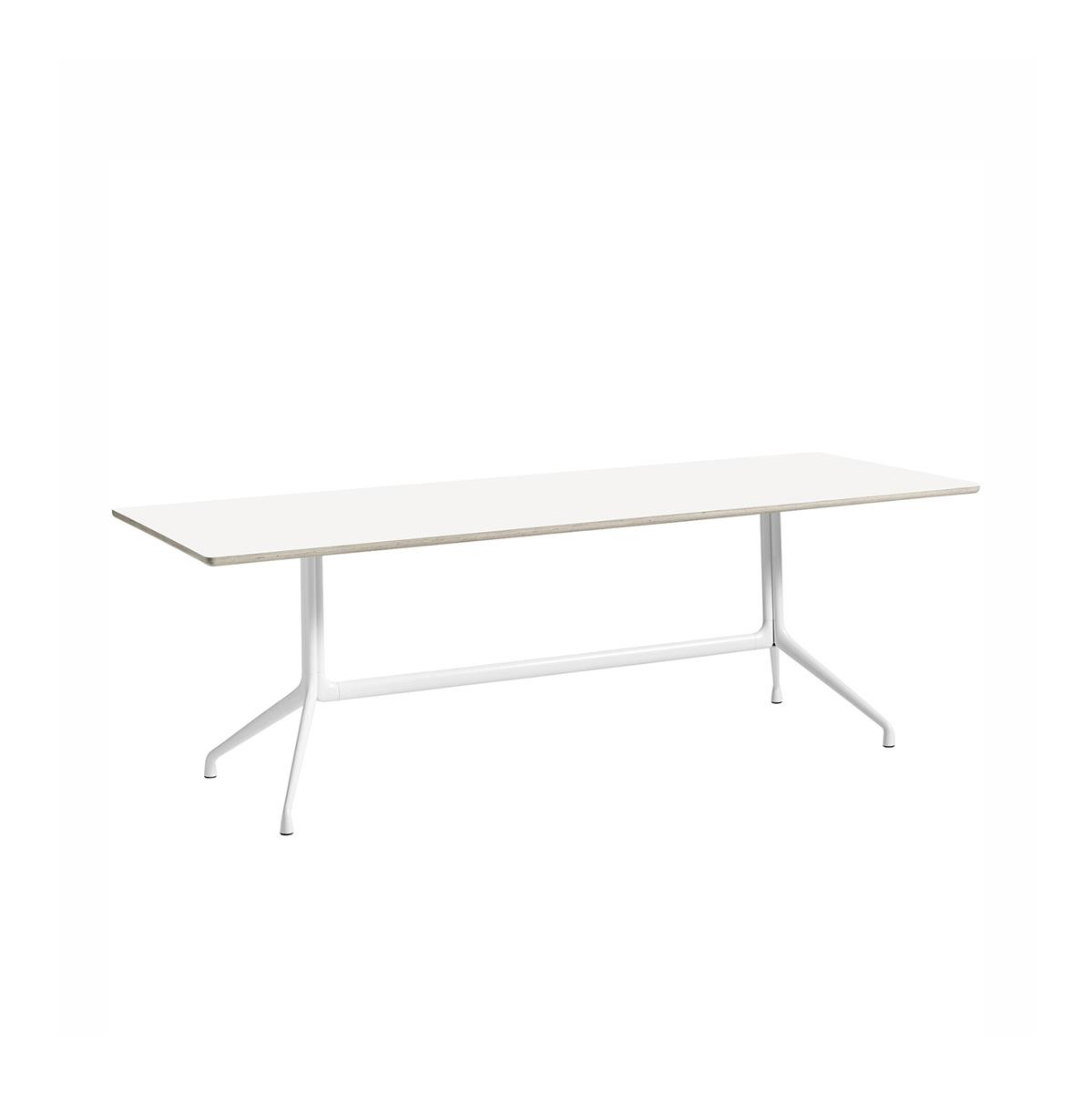 About A Table 220x105 - hvit HPL & hvit