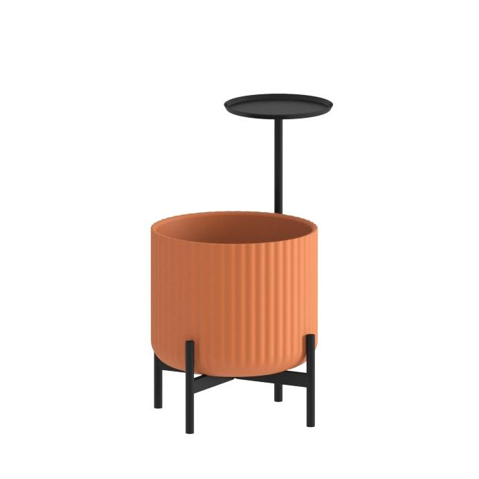 Klorofyll Low Base &  Medium Planter with Round Table