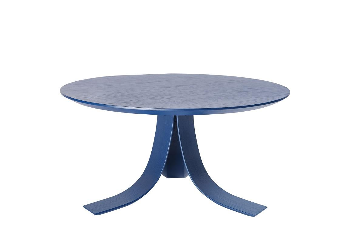 PI 75 Side Table. Blue. Ø75cm. H:38cm.