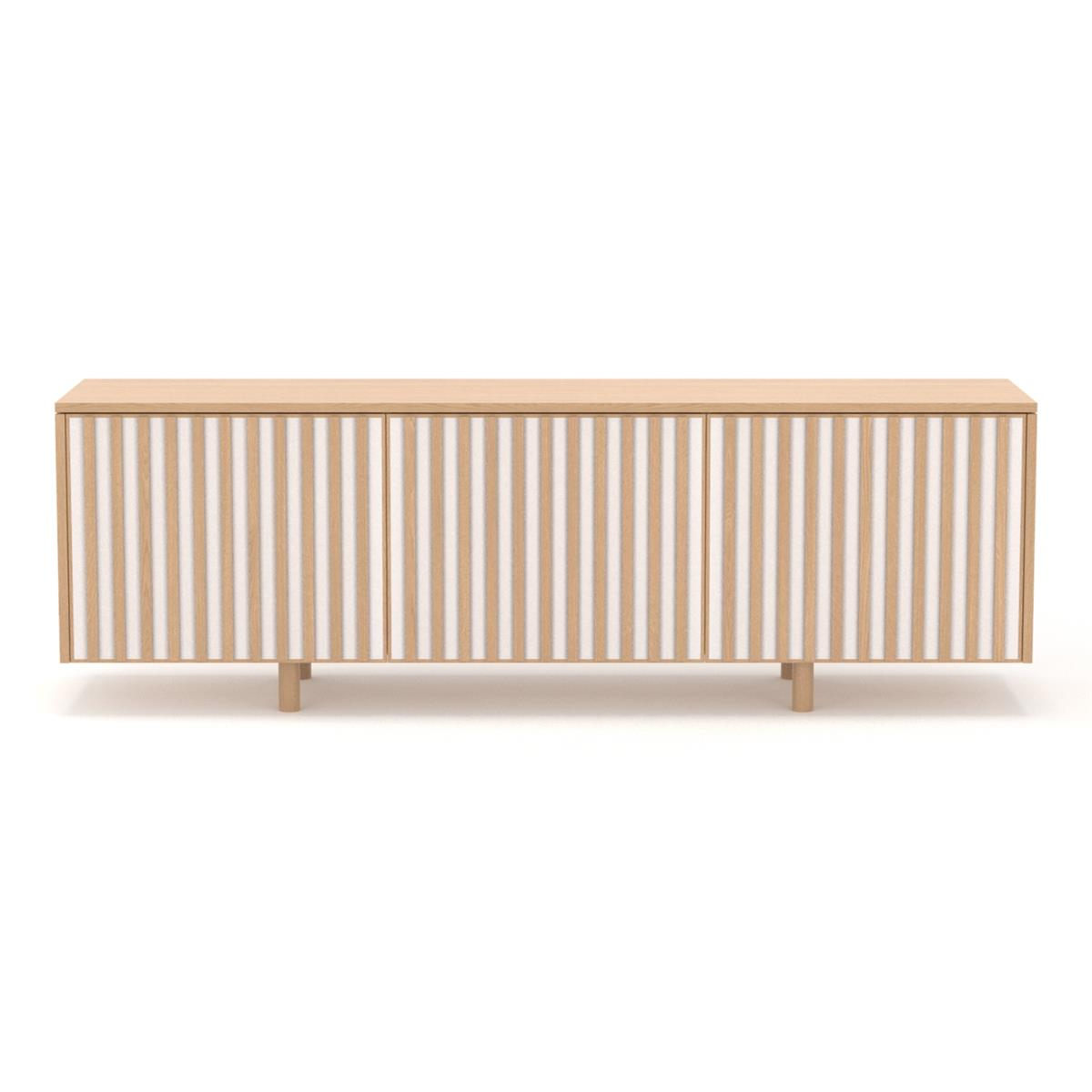 dB Silent Sideboard - White Oiled Oak & Oak legs
