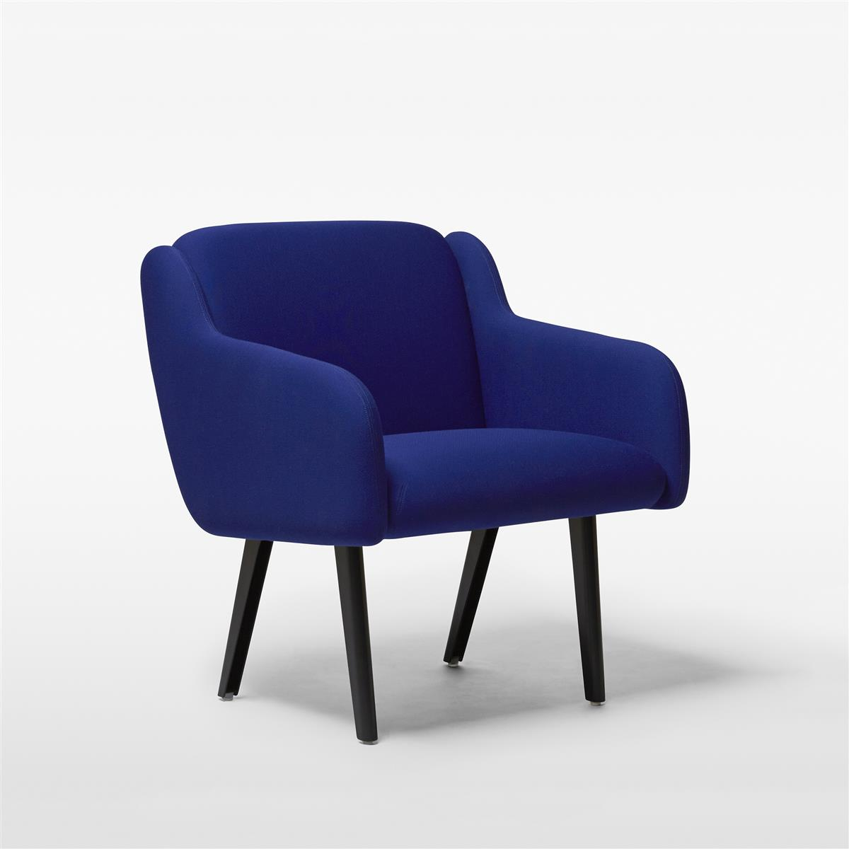 Anyway Lowback Armchair - Main Line Flax, sorte ben
