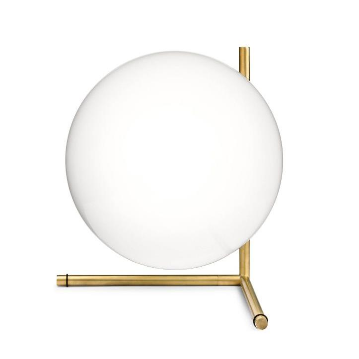 IC Lights Table 2 - Brushed Brass
