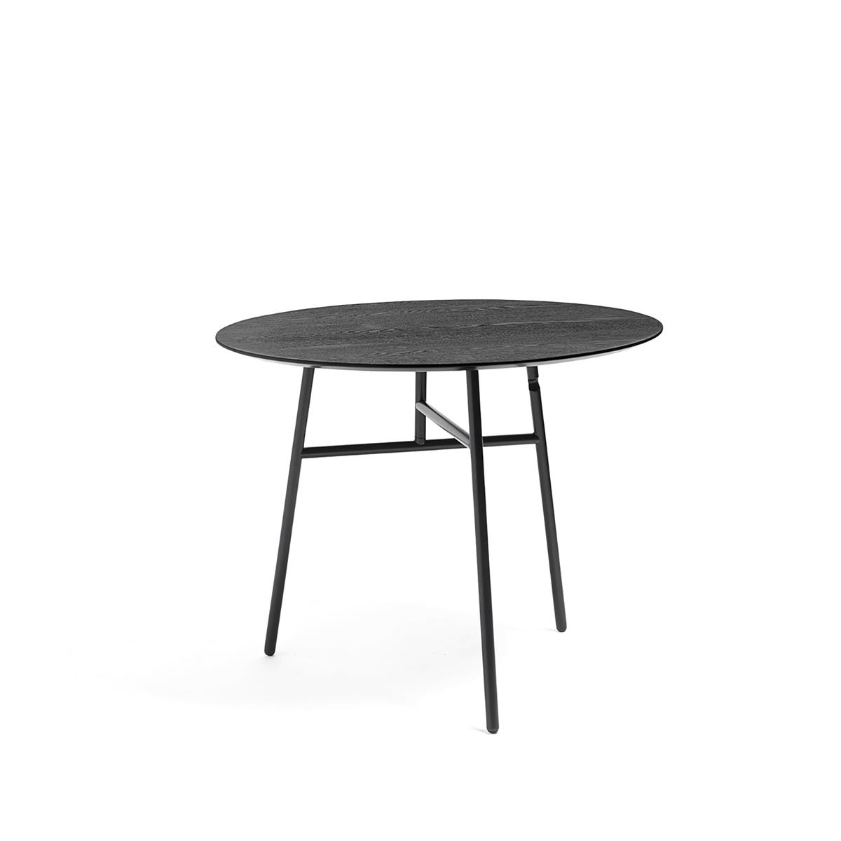 Tilt Top Table Ø90 x H74 - Black Stained Ash