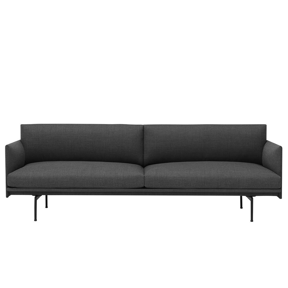 Outline Sofa 3 Seater - Remix & Black