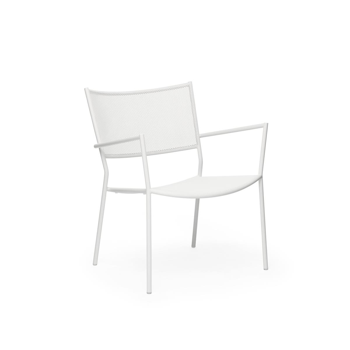 Jig Mesh Easy Chair - White
