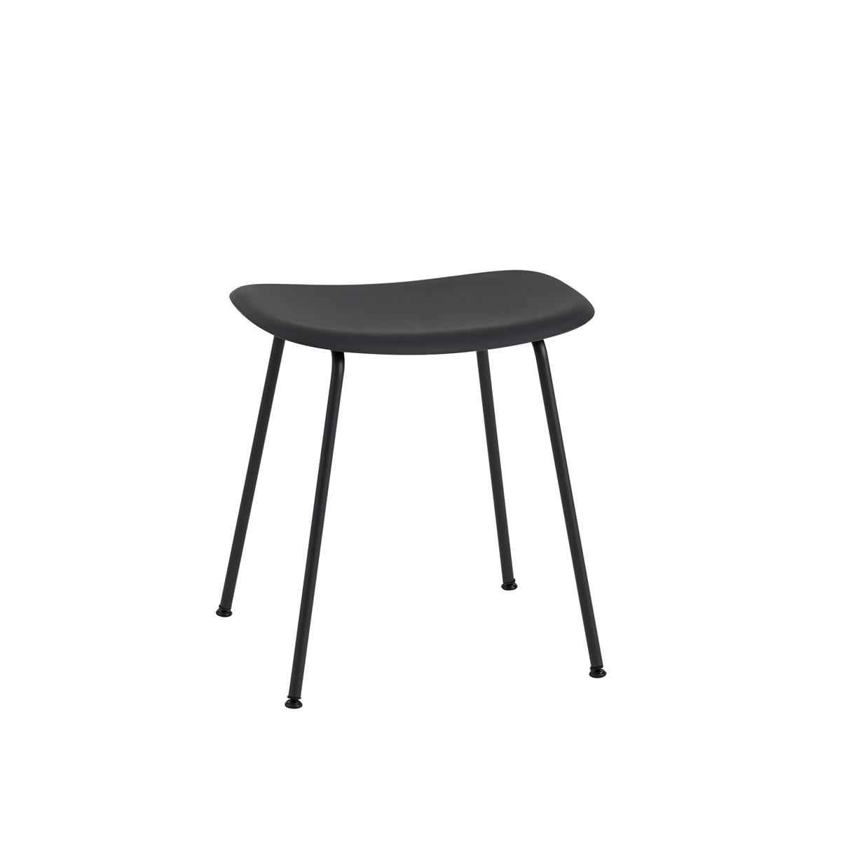 Fiber Stool Tube Base H45 - Black