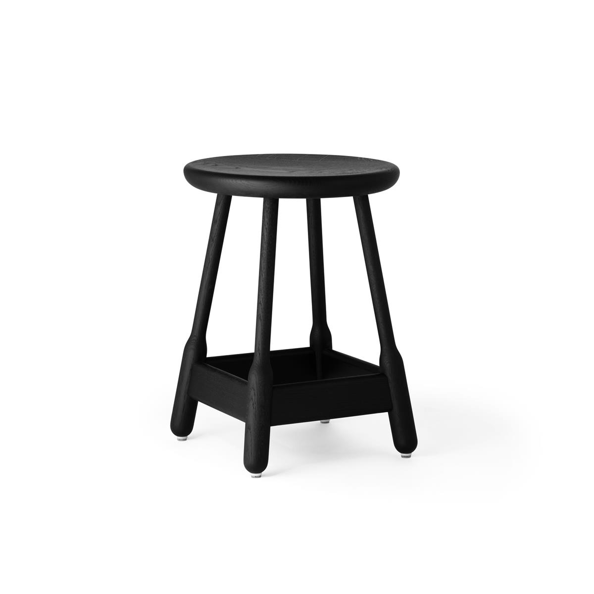 Albert Stool H50 - Black Stained Oak