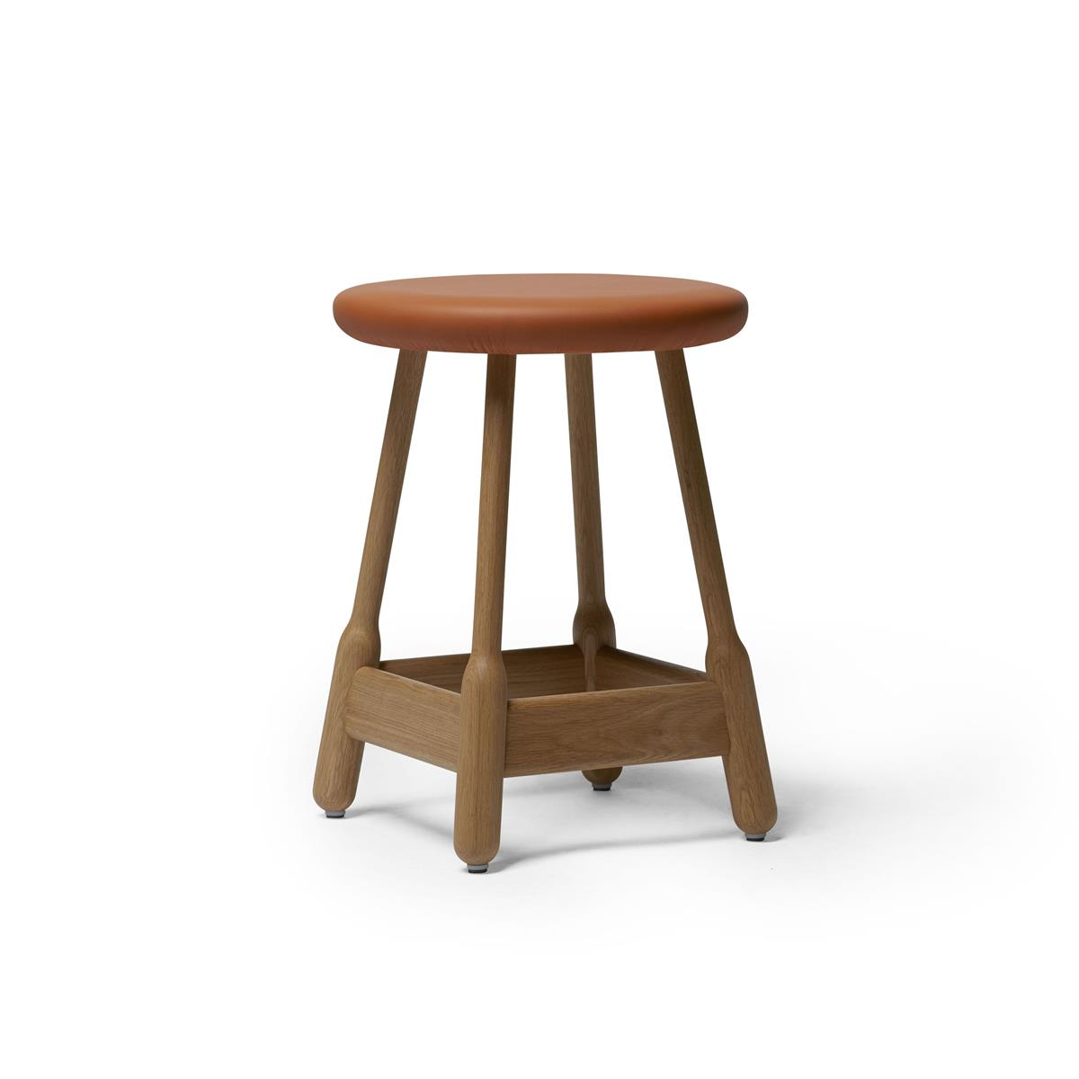 Albert Stool H50 - Natural Oak & Elmo Nordic
