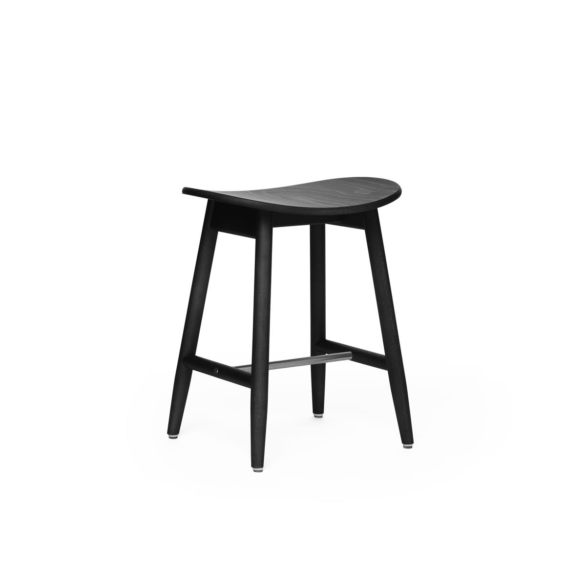 Icha Stool - Black Stained Oak
