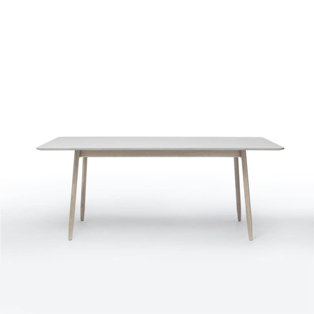 Icha Table - Mushroom & White Oiled Oak