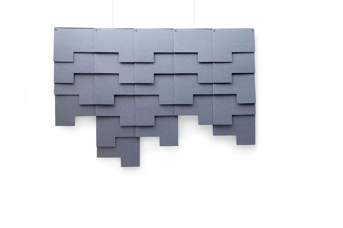 Felt Tile Patch. 5 horizontalt, 24 totalt. Inkl. oppheng. Kvadrat Really.