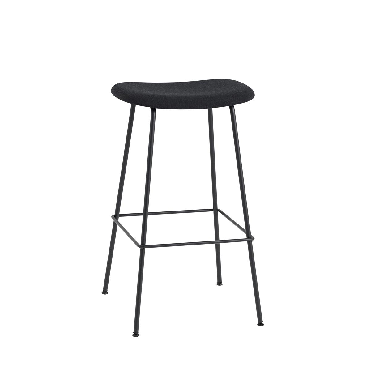 Fiber Bar Stool / Tube Base H75 - Kvadrat Remix & Black