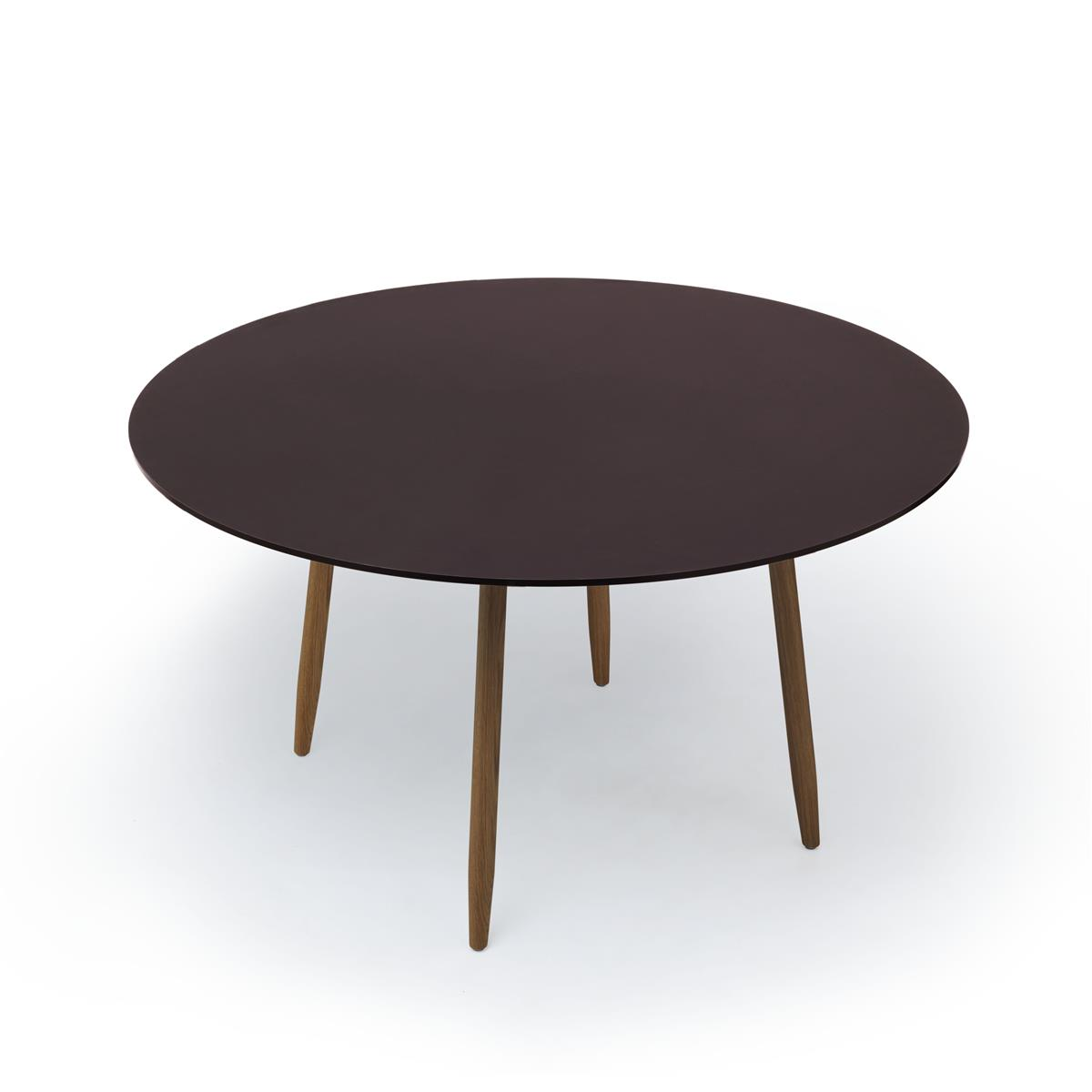 Icha Table - Burgundy & Natural Oak