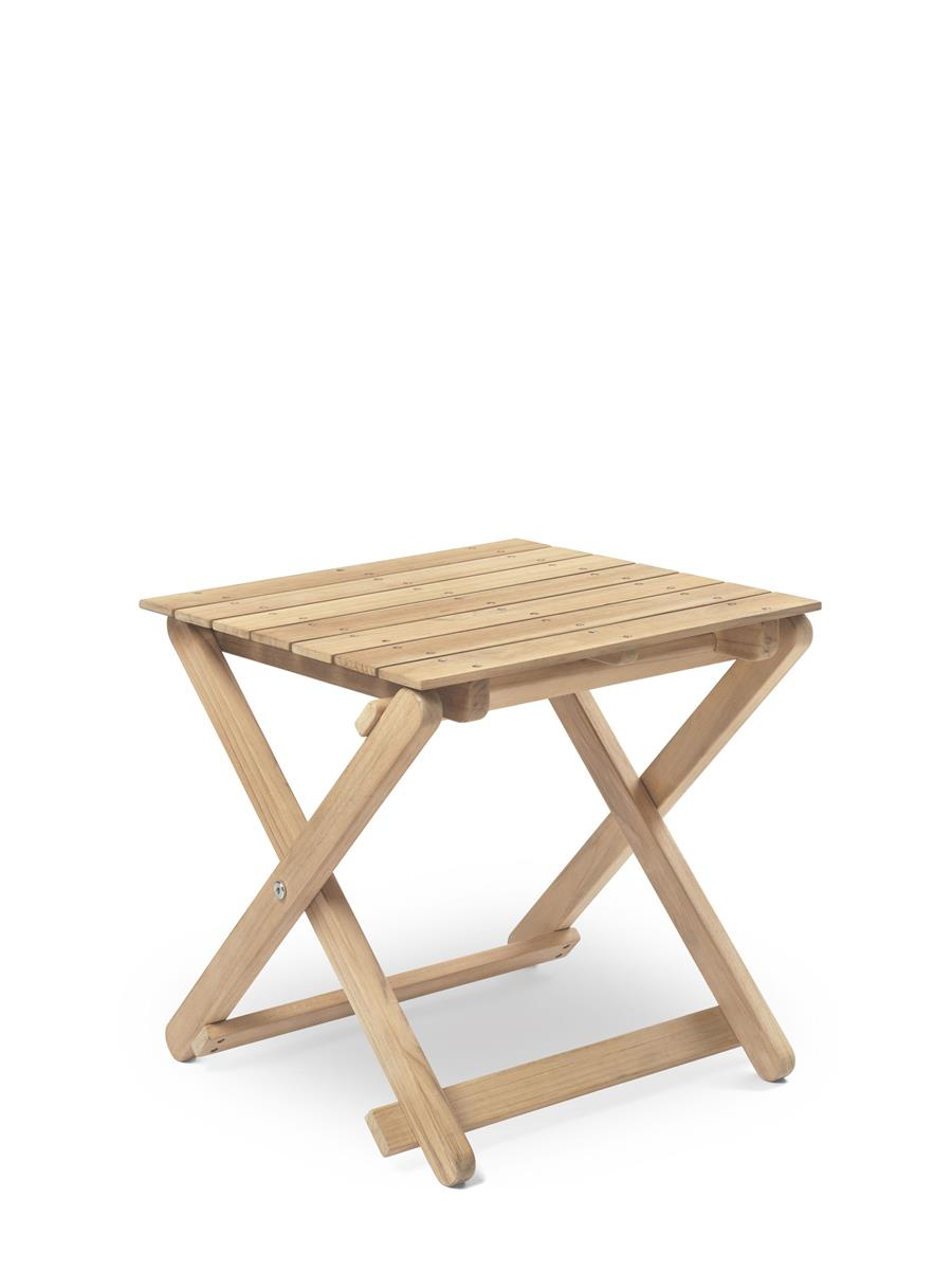 BM5868 Side Table i ubehandlet teak.