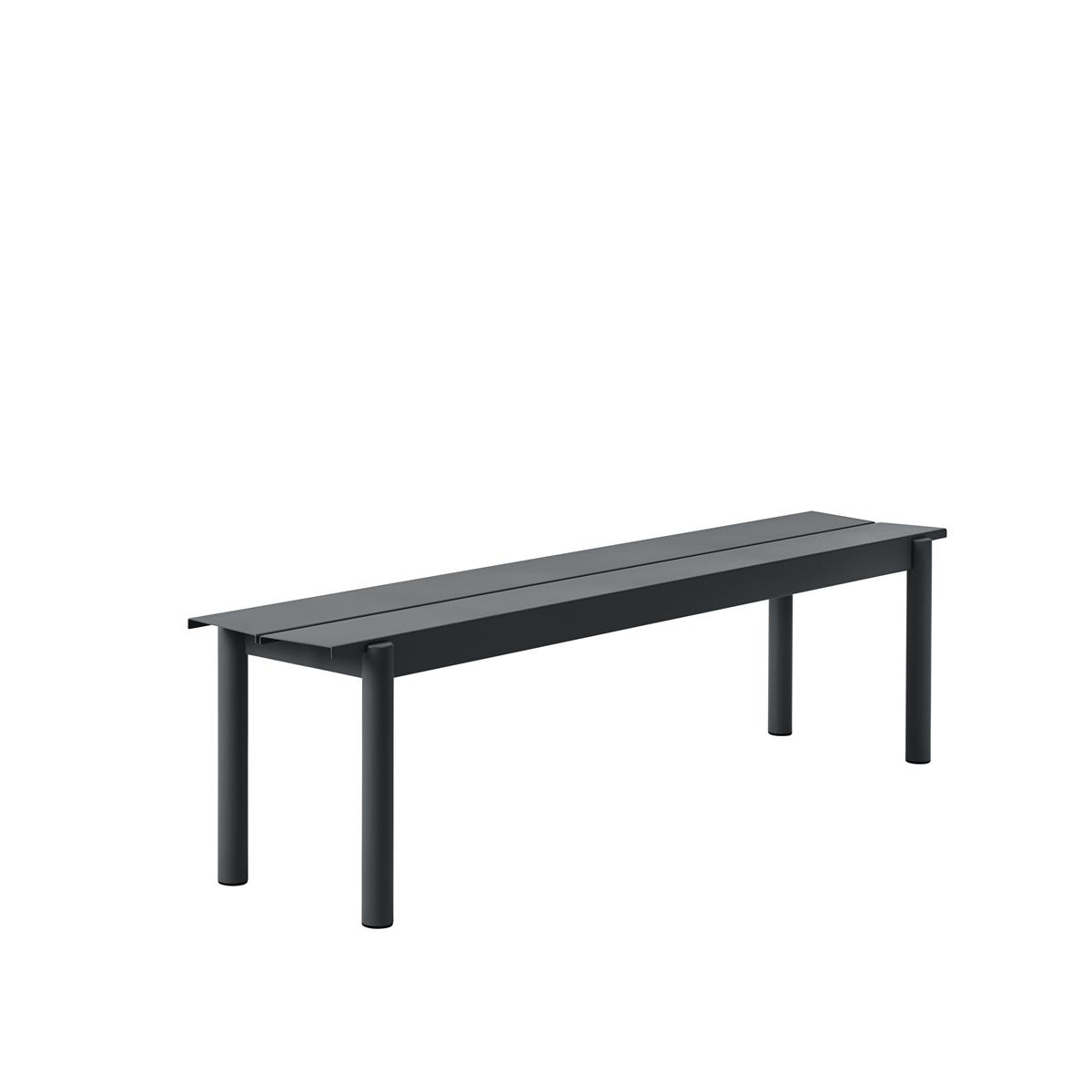 Linear Steel Bench 170 x H45,5 - Black