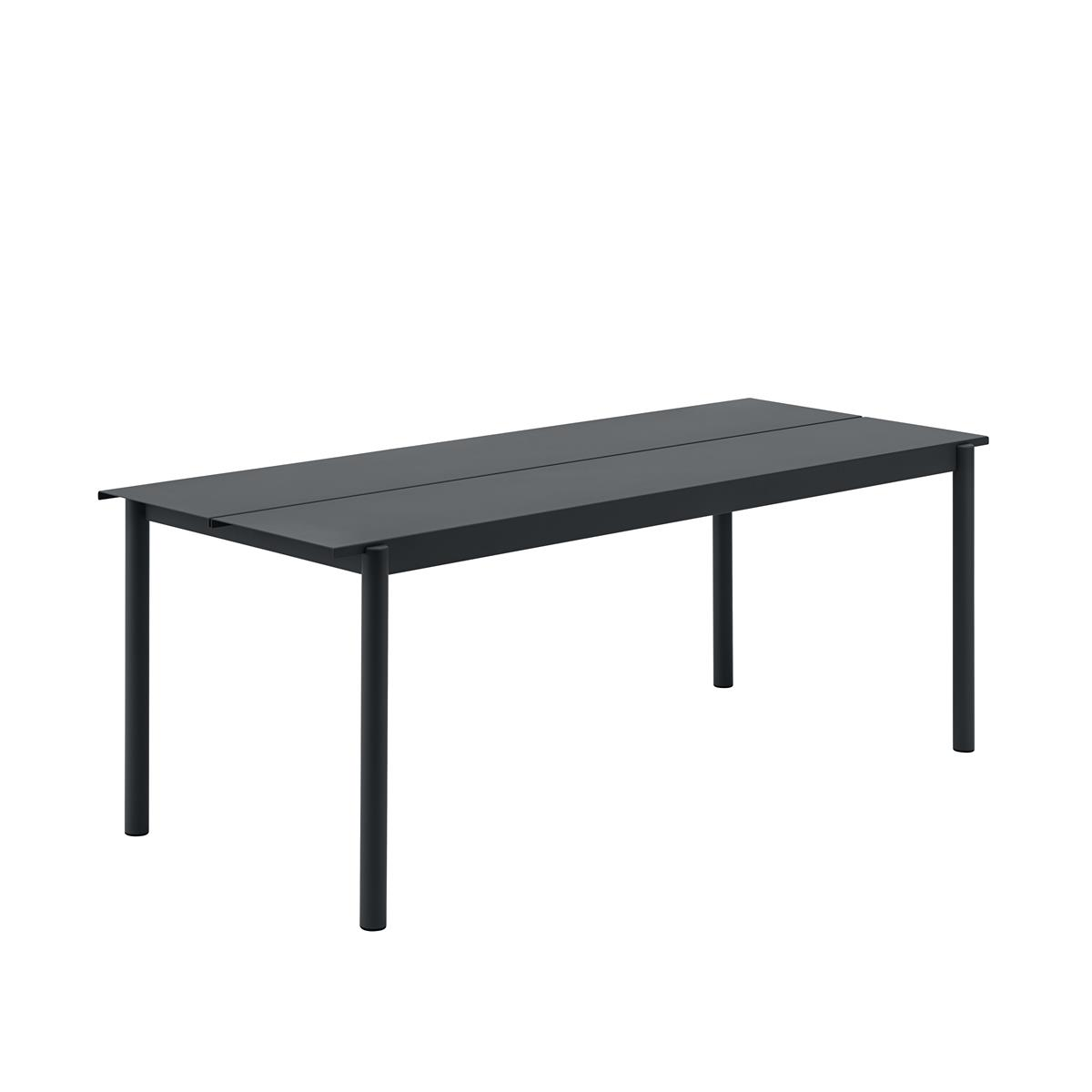 Linear Steel Table 200 x 75 x H73,5 - Black
