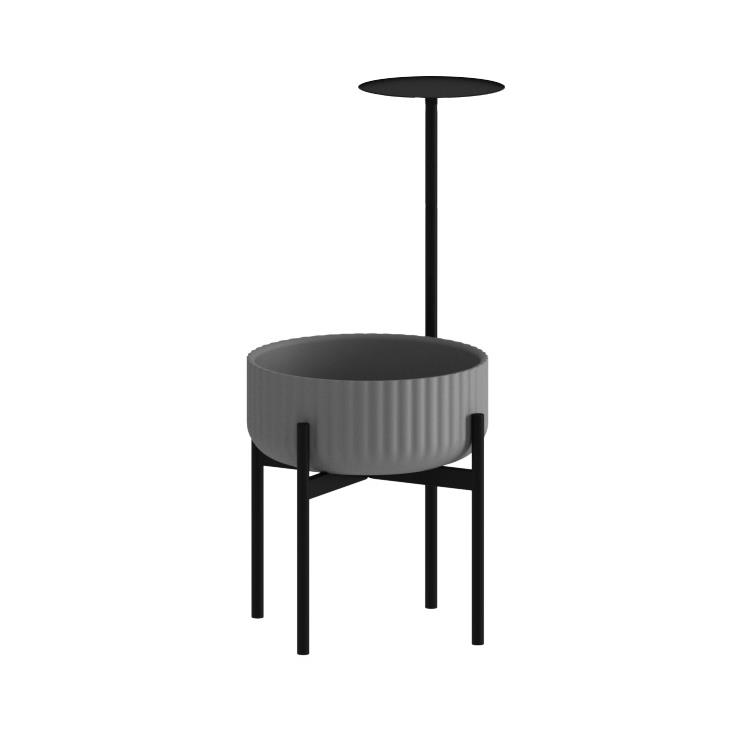 Klorofyll Medium Base & Low Concrete Planter with Round Table