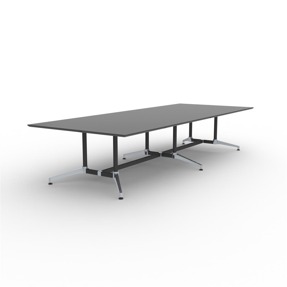 X1 Seamless Table 360 x 140 - sort linoleum & sort/aluminium