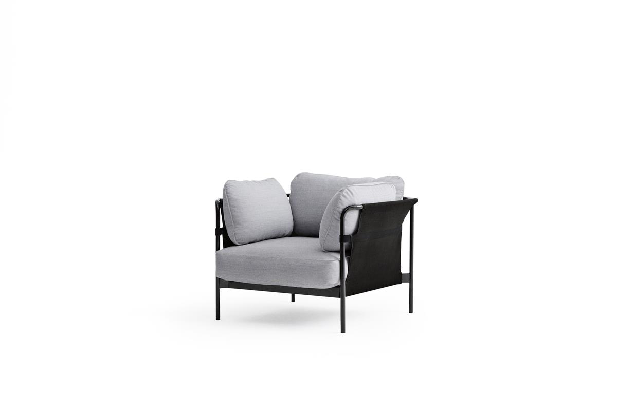 Can 1 Seater - Kvadrat Steelcut & Black
