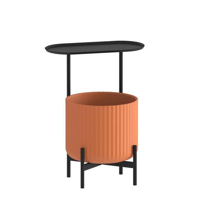 Klorofyll Low Base &  Medium Planter with Oval Table