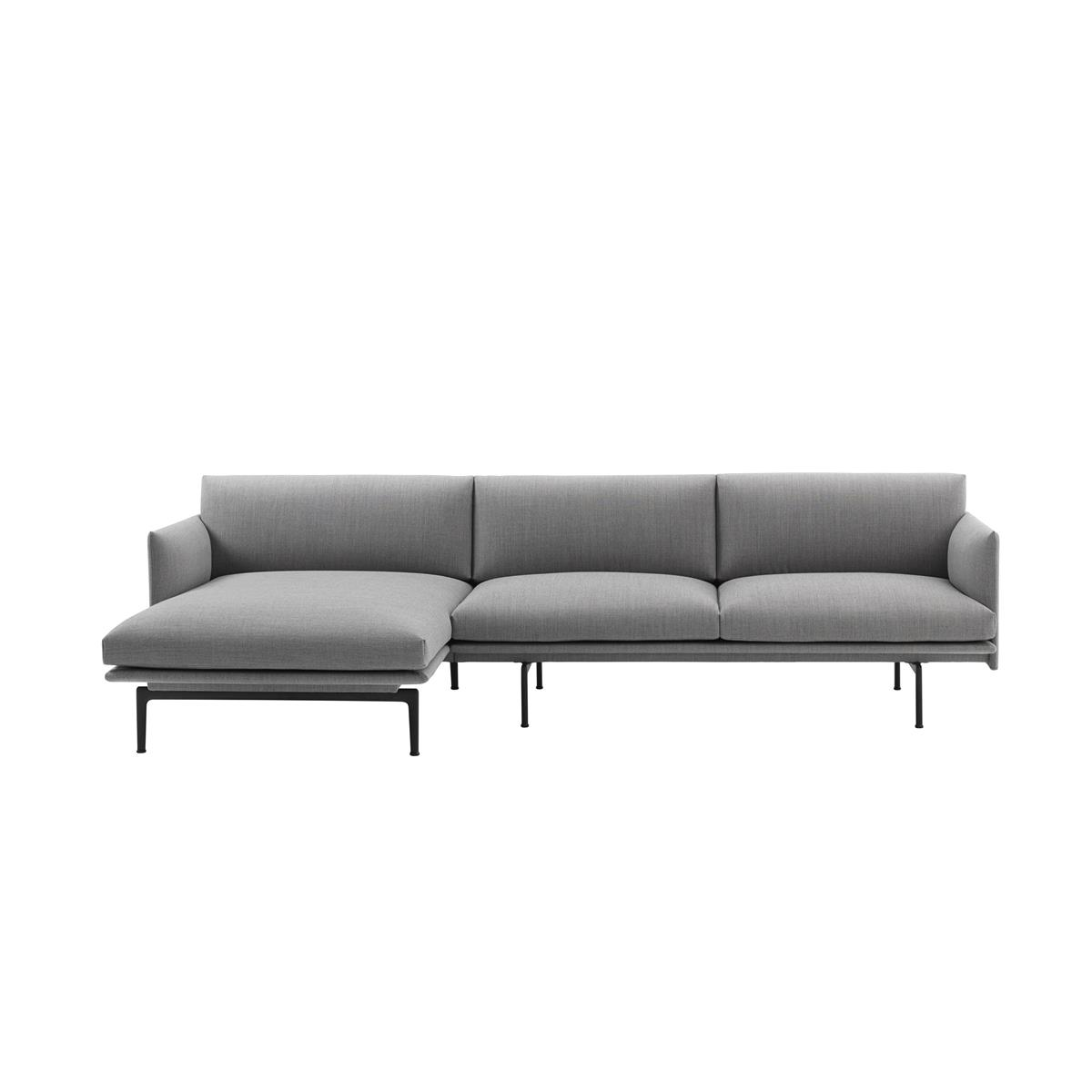 Outline Sofa Chaise Longue Left - Steelcut