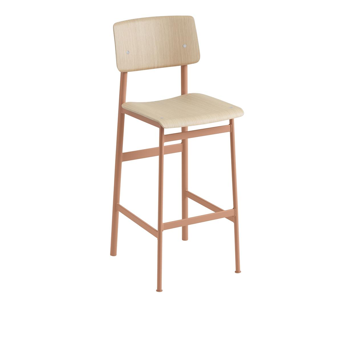 Loft Bar Stool H75 - Dusty Rose & Oak